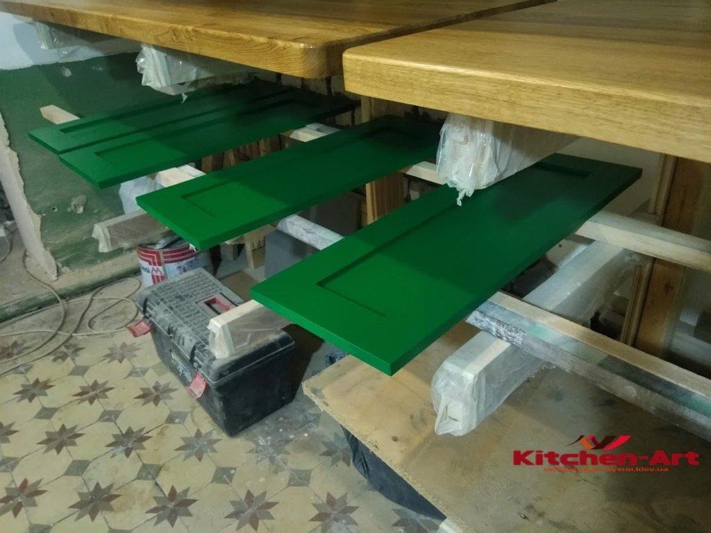 зеленые фасады для кухни на заказ