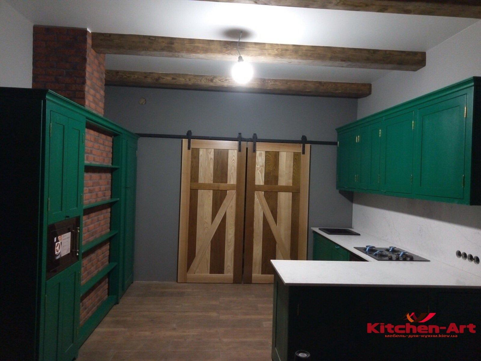 мебель в кухню с фасадами из бука под заказ