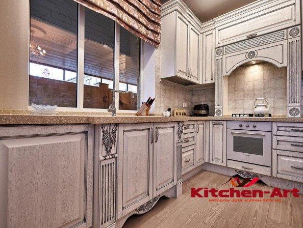 фото кухонь из массива дуба