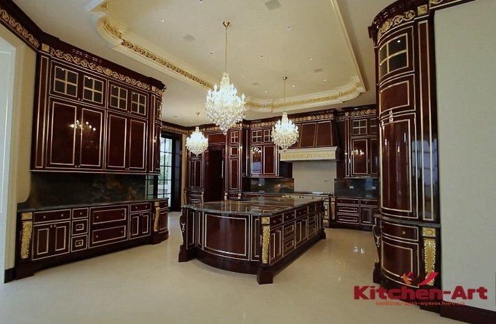дубовая кухня в элитный дом