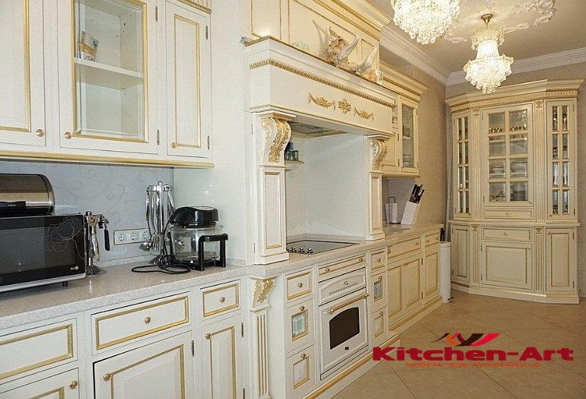 заказная кухонная мебель из ольхи