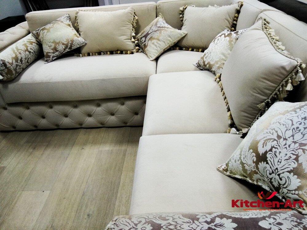 угловой дизайнерский иван с подушками