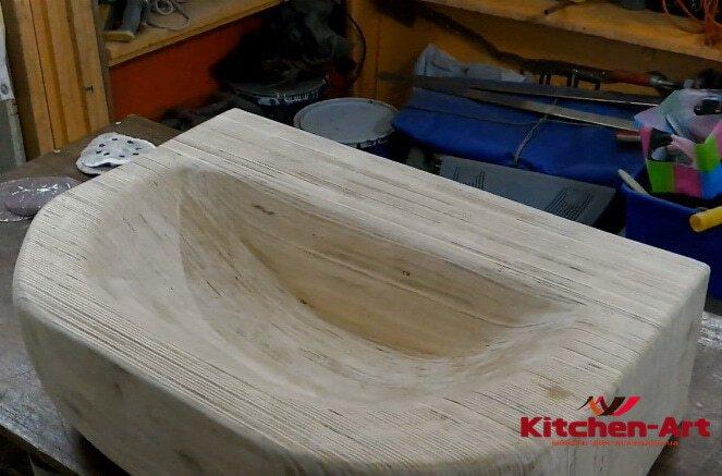 Раковины деревянные