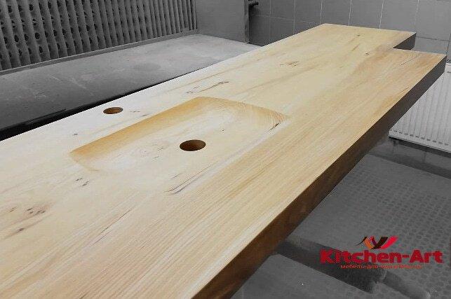 деревянная мойка из дерева