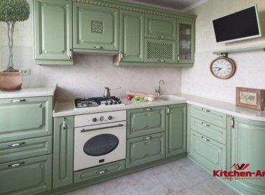 заказать зеленую кухню