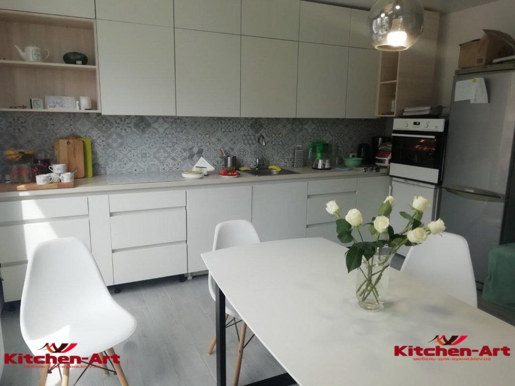 белый мдф стол для кухни под заказ