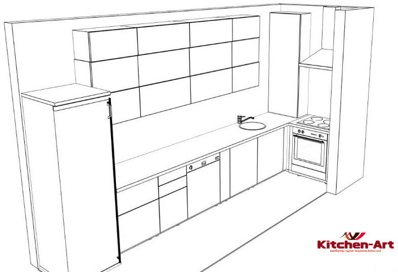 проект мраморной кухни на заказ