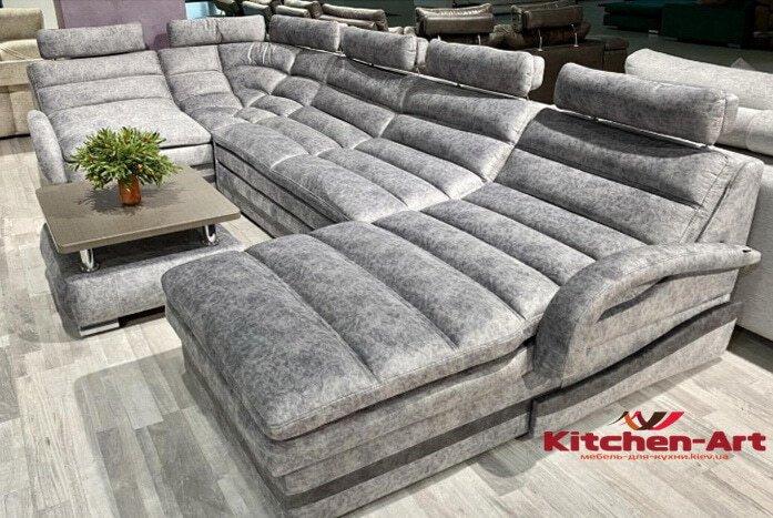 п образный диван под заказ со спальным местом