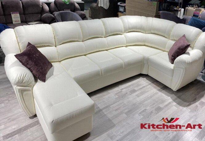 авторский белый диван