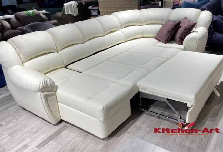 раскладной белый диван