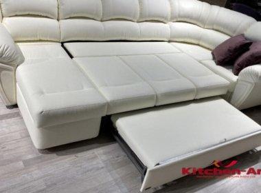 раскладной белый диван на заказ в Киеве