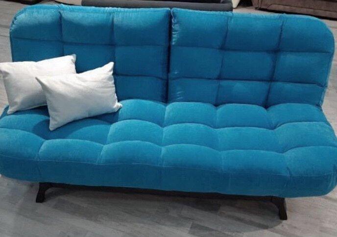 прямой синий диван раскладной