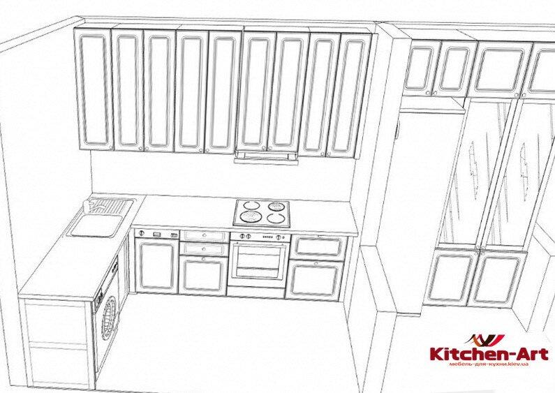 проект угловой кухни Борисполь