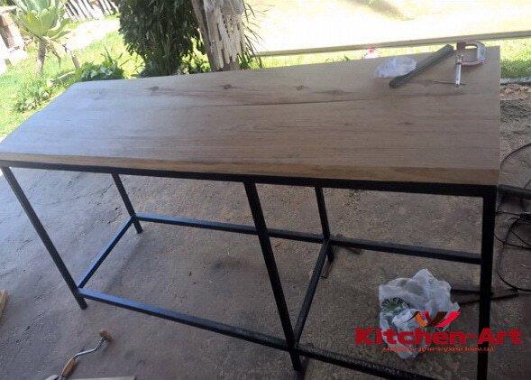 заказные обеденные стоы в стиле лофт на заказ