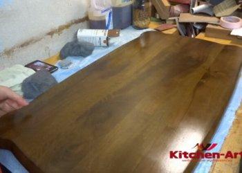изготовление обеденного стола из массива