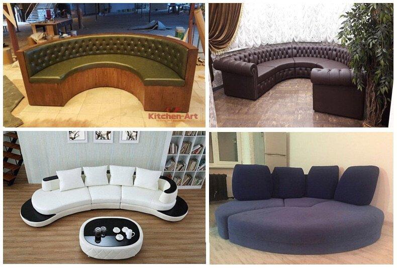 изготовление круглых диванов