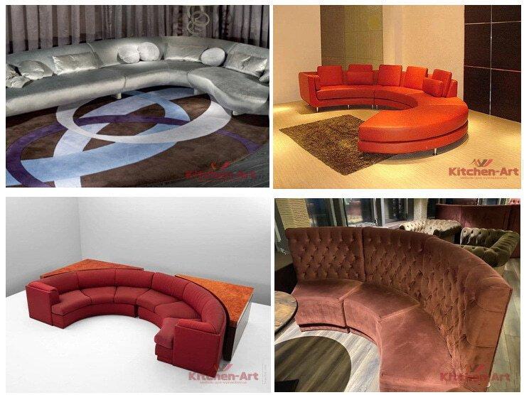 дизайн круглых диванов на заказ