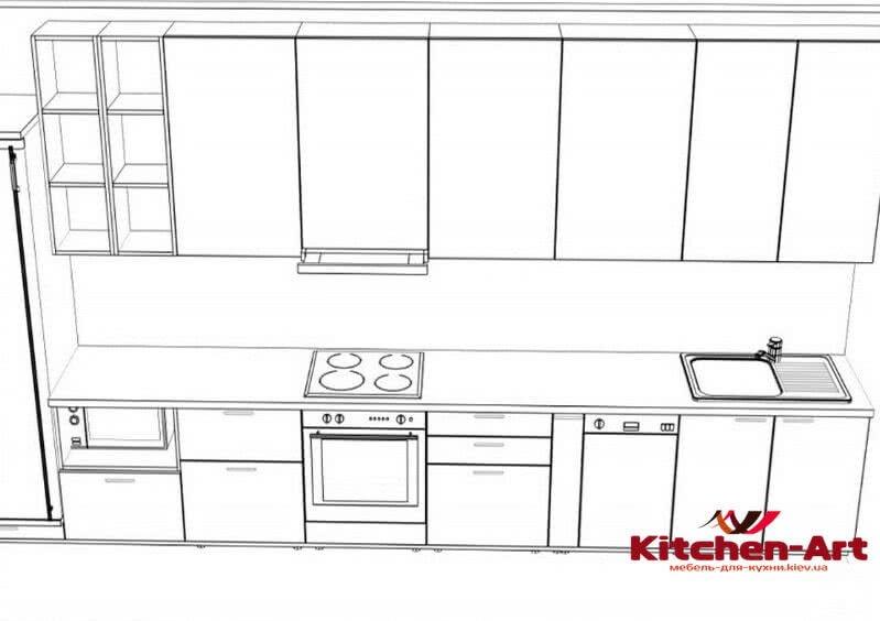 Кухня в стиле современная классика на заказ