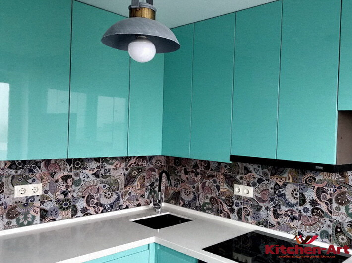 кухня цвета Аквамарин на заказ