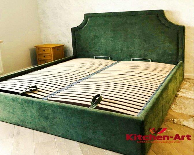 зеленая кровать на заказ