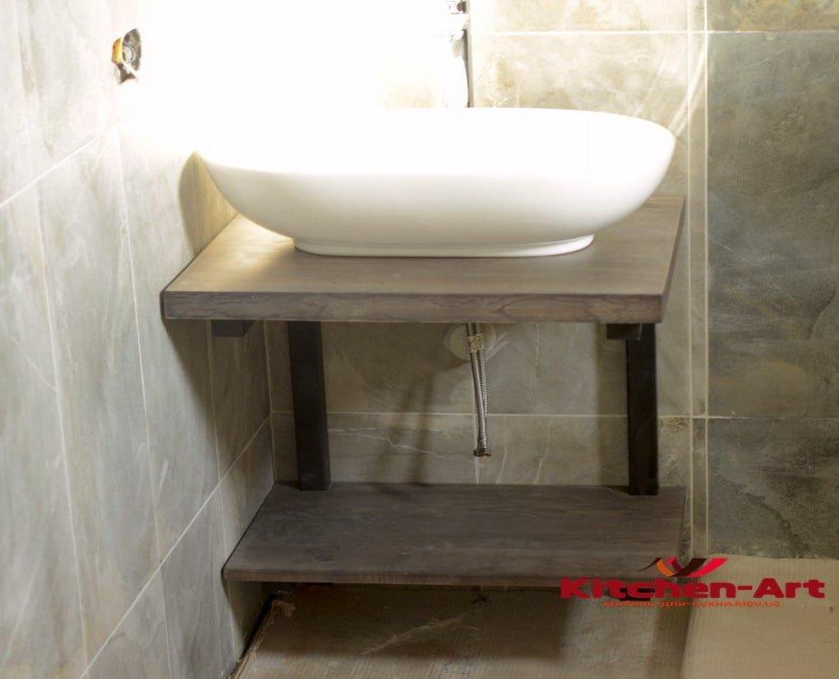 влагостойкая деревянная столешница в ванную
