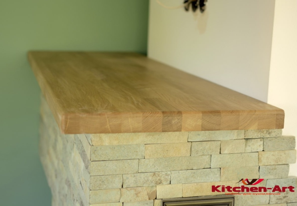 подоконник-столешница из дерева