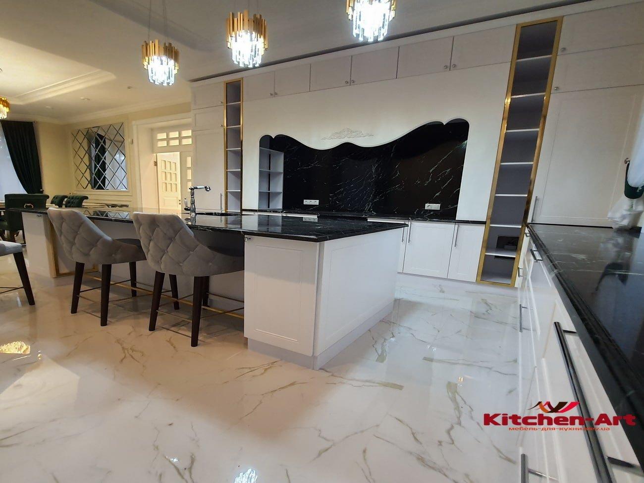дизайн проект мебели в кухню с фасадами из бука