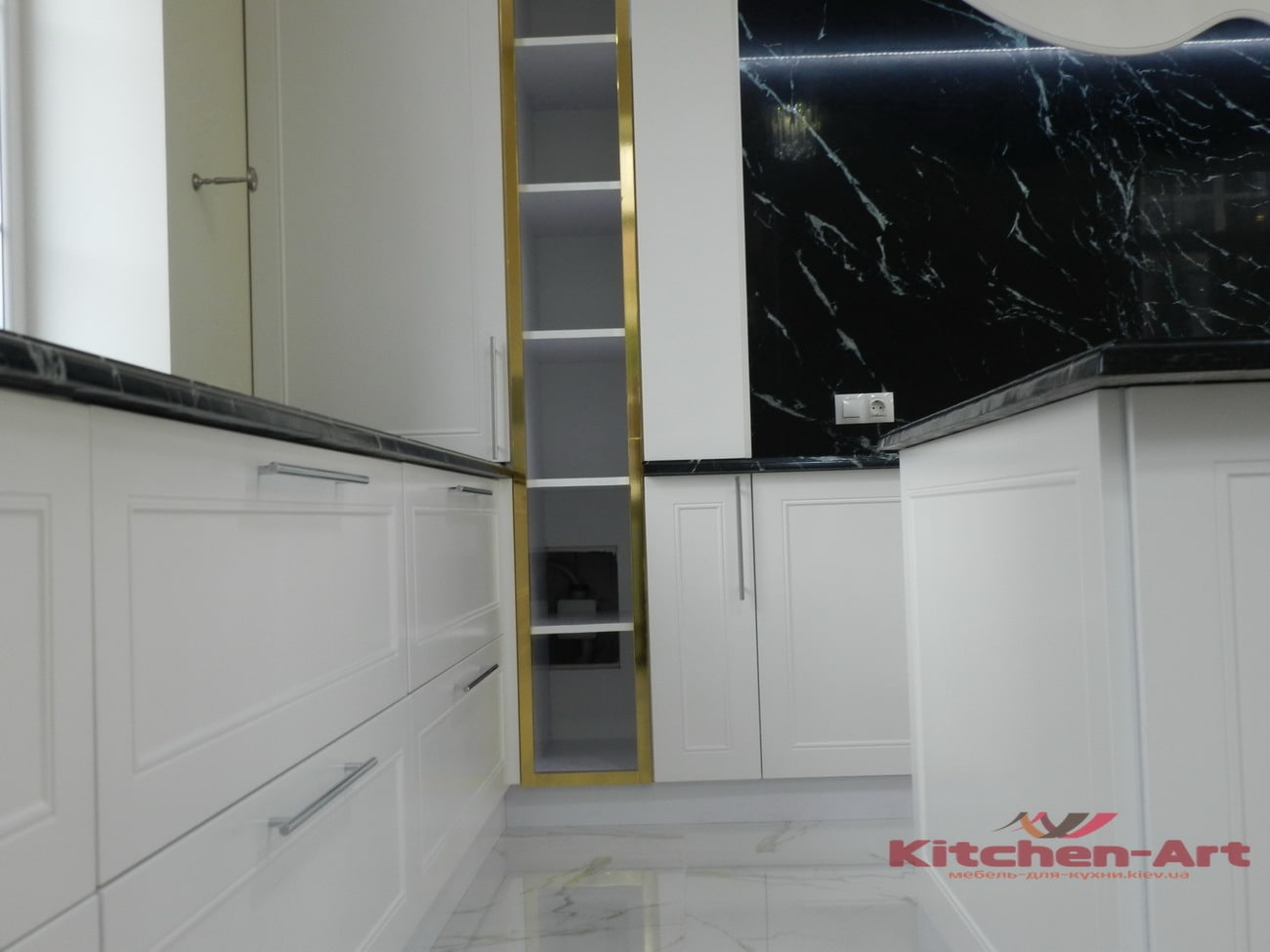 мебель в кухню с фасадами из бука проект