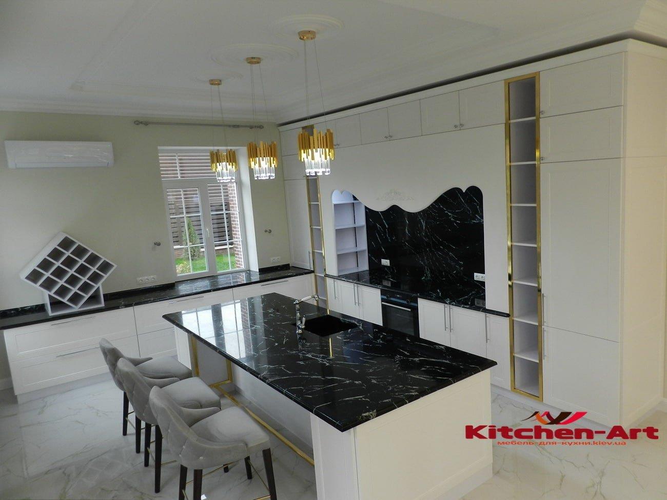 мебель в кухню с фасадами из бука фото